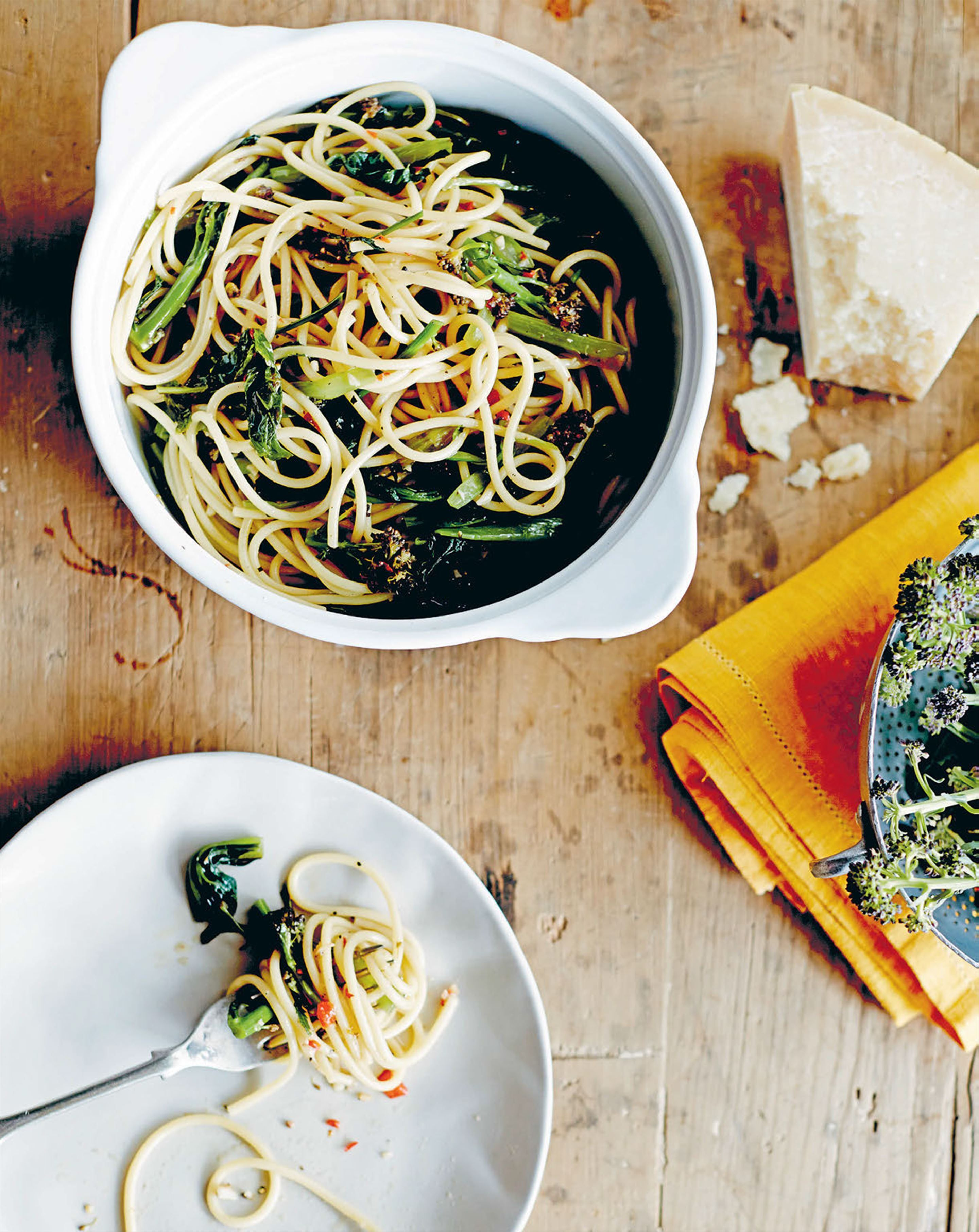 Spaghetti with rape recipe from My Italian Kitchen by Laura Cassai ...