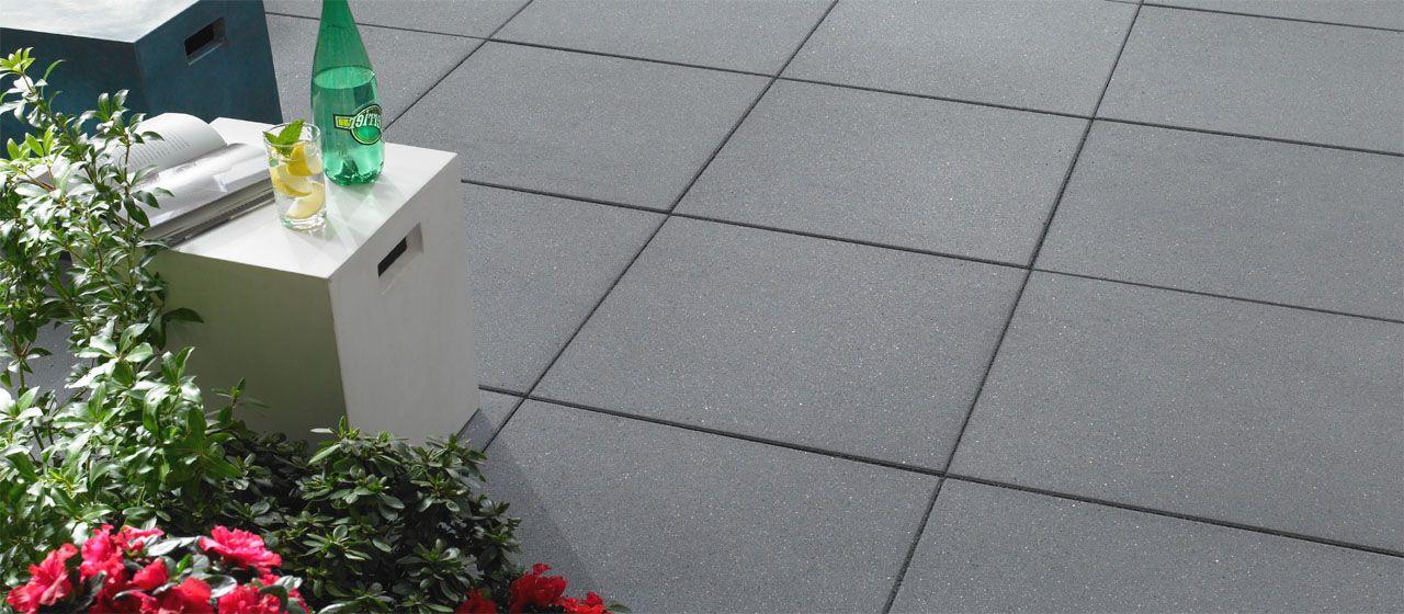 Vanity Terrassenplatten In Dunkelgrau Mauer Pflastersteine