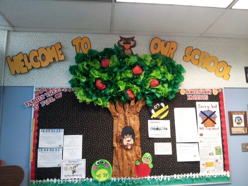 welcome to our school office bulletin board bulletin