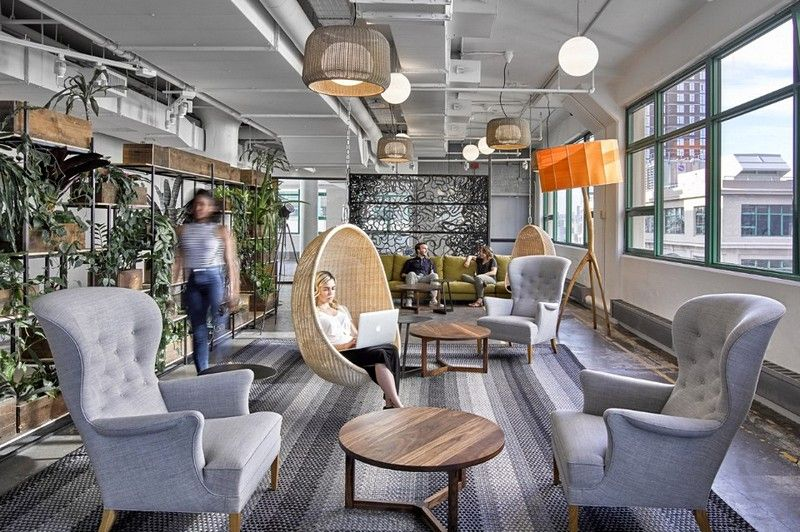 Etsy Offices In New York City Gensler Office Interior Design Cool Office Cool Office Space