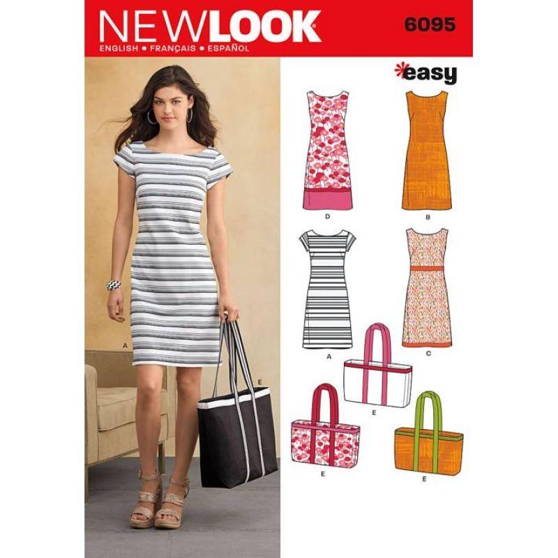 englisches Schnittmuster NewLook 6095 Kleid A 10-22 (36-48)   Nähen ...