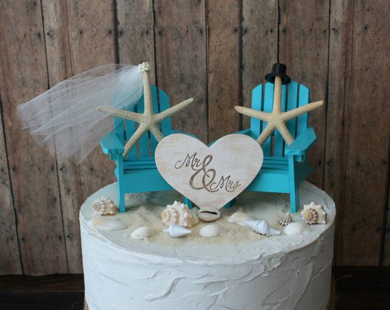 Ivory Bride Adirondack Chair Wedding Cake Topper Miniature Beach