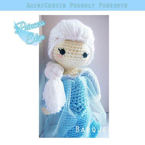 Crochet Doll - Frozen Inspired - Princess Elsa Inspired - Special ...