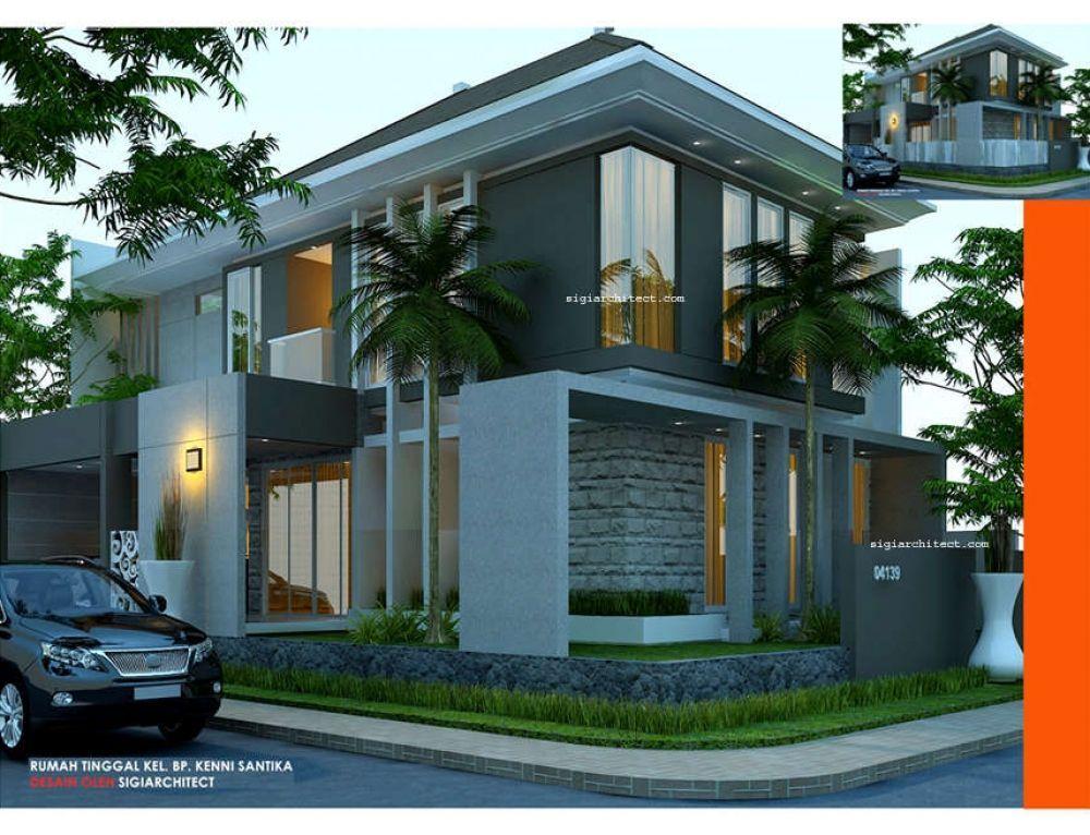 Rumah Mewah 2 Lantai 250 M2 Style Klasik Modern Balkon Rumah 2 Lantai Minimalist House Design House Designs Exterior House Roof Design