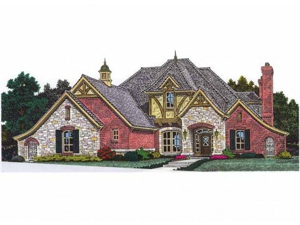 Looks like a crayon drawing but has some good points.  [ House Plan ]