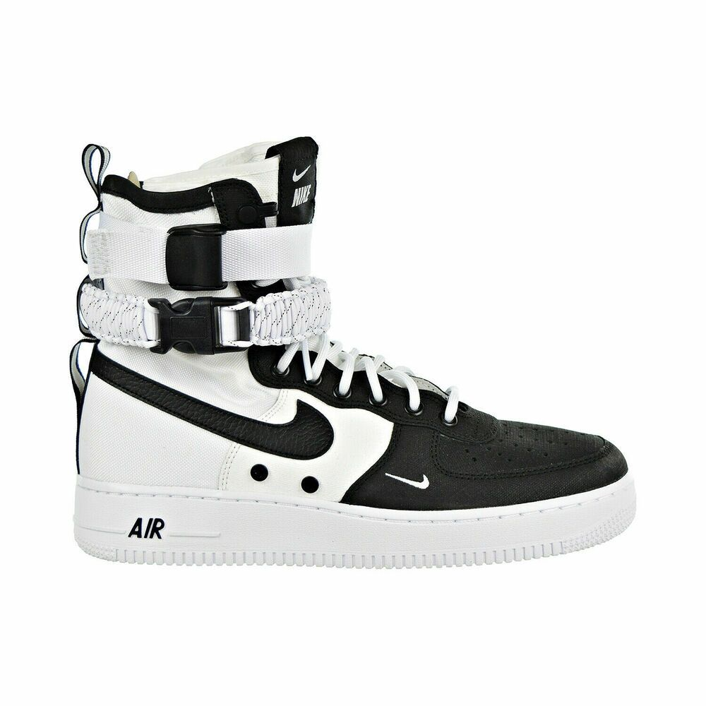 NEW MEN'S NIKE SF AF1 AIR FORCE 1 HIGH WHITE BLACK WHITE