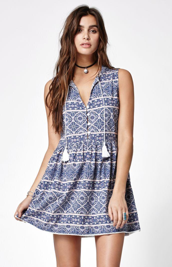 Persia Printed Mini Dress Bohemian Smodern