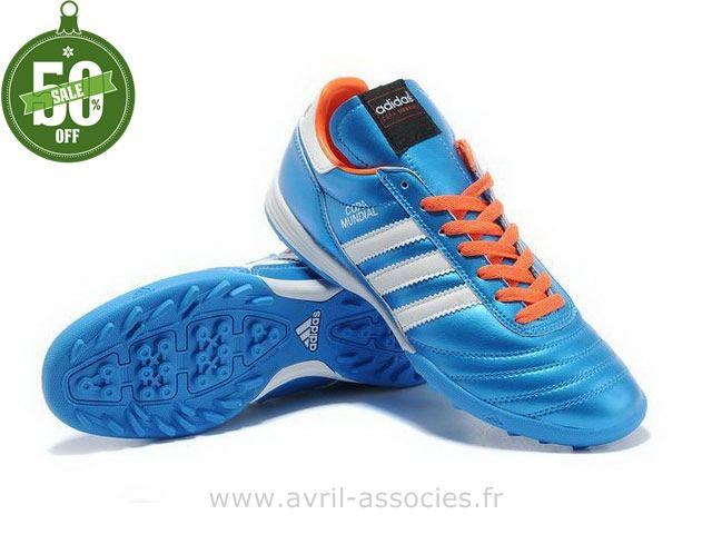 Foot Copa Boutique Bleu Blanc De Chaussures Adidas Mundial Tf qwRzg