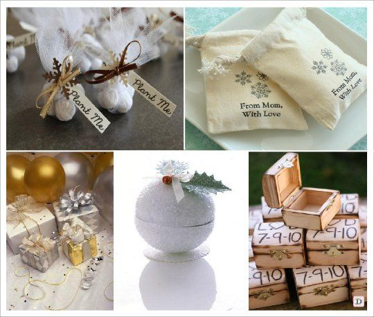 Mariage hiver pochon dragees personnalise coffre id es for Idee deco hiver