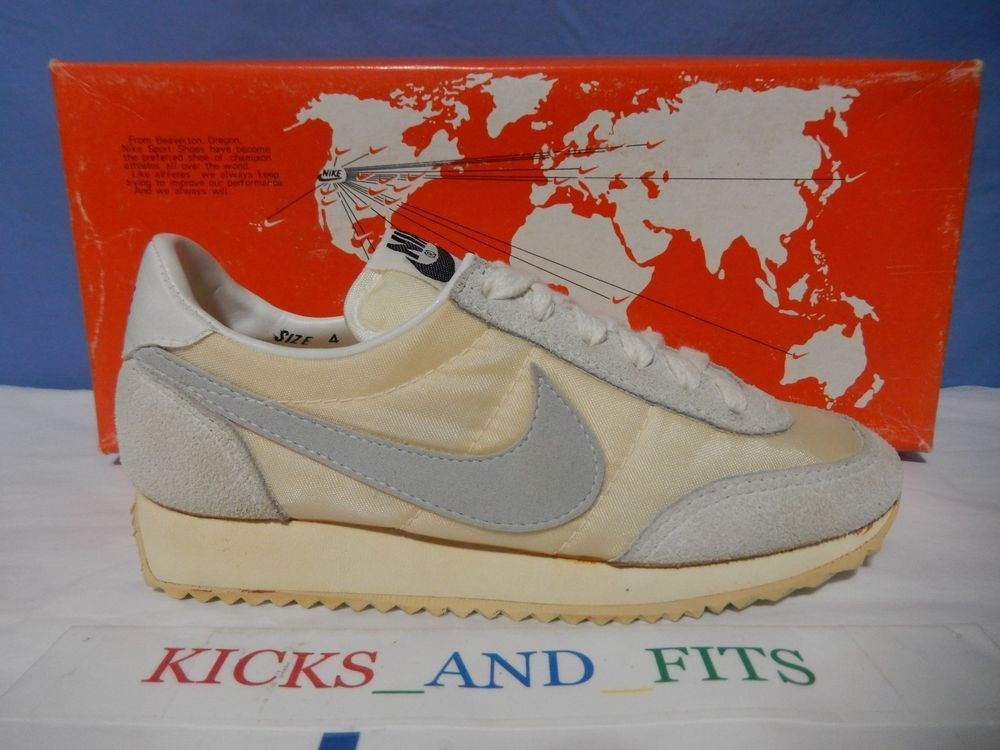 best service cc843 b780b Vtg 1981 Nike Spirit Running Shoes DS New size 4 w OG Map Box Rare