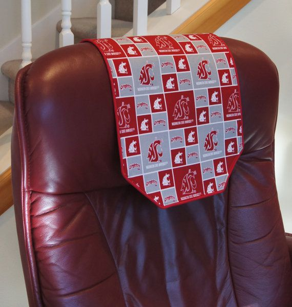 Father S Day Is Coming Recliner Chair Headrest Protector Made With Wsu Fabric By Chairflair 35 00 Headrest Recliner Chair Cover