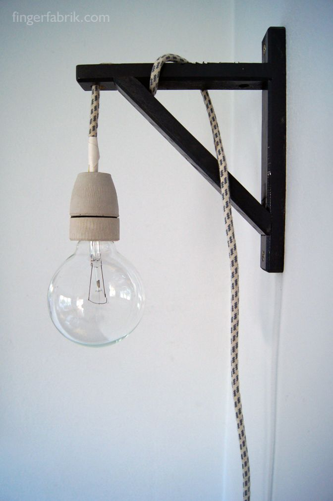 FINGERFABRIK: DIY: Cable lamp tutorial * Kabel Lampe selber