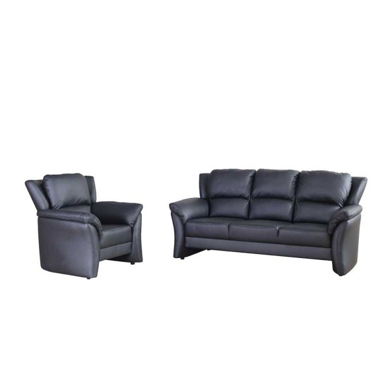 Couchgarnitur Giga In Schwarz Aus Kunstleder Couchgarnitur Couch Kunstleder