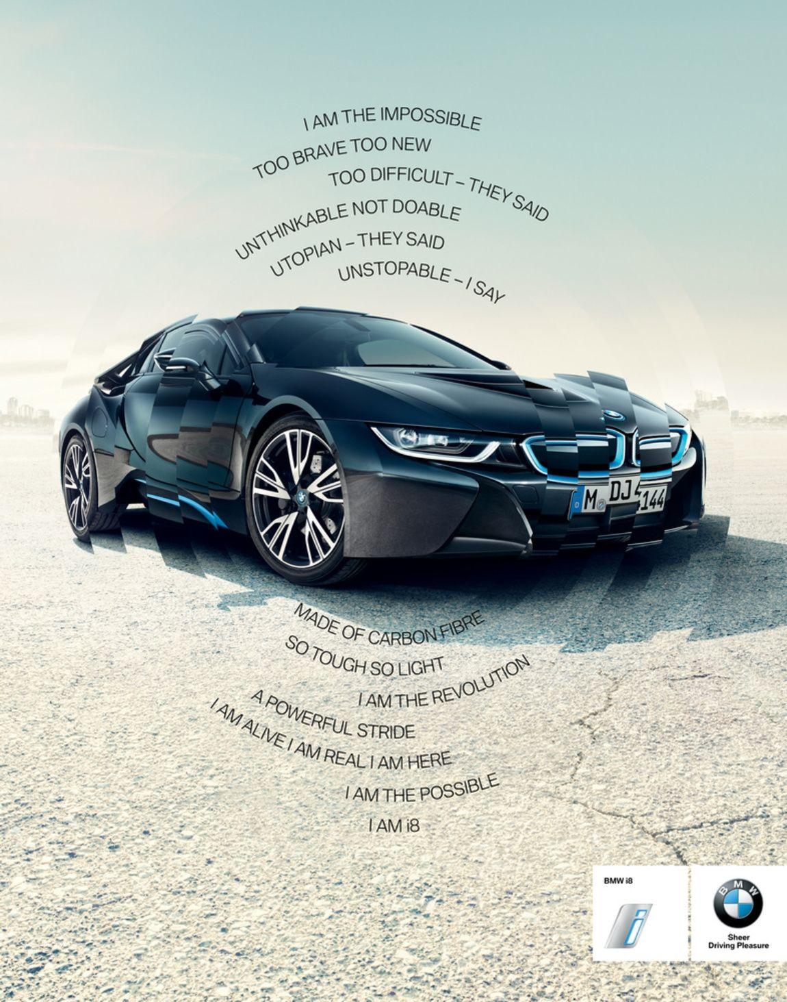 Bmw I8 I Am The Impossible Mercedes Ev Van Branding Inso