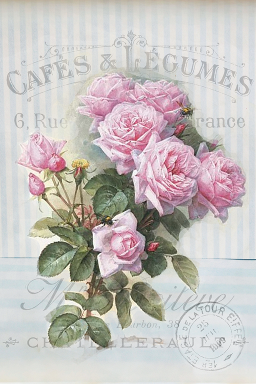 Rare Vintage French- Shabby Chic Instant Art Free Printable ...