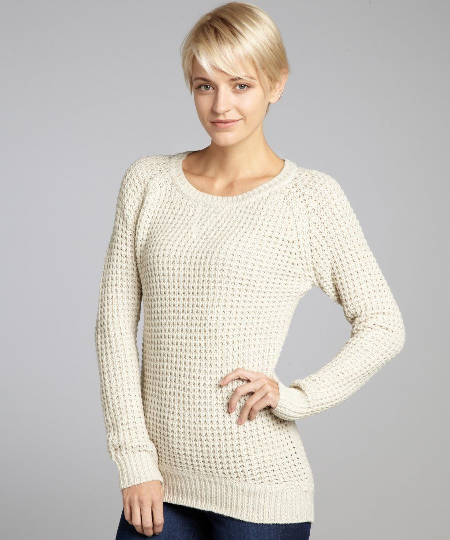RD Style oatmeal shaker stitch hi-low tunic sweater | BLUEFLY up ...