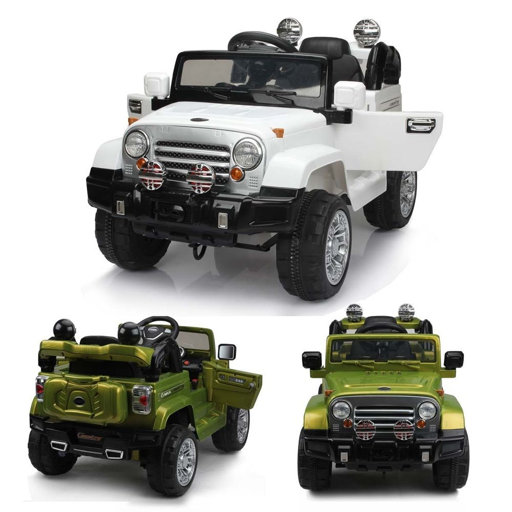 kids ride on jeep electric childrens 12v battery remote control toy car cars