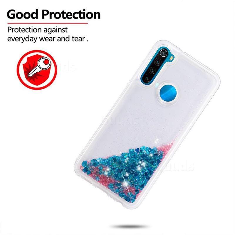 Dynamic Liquid Glitter Quicksand Sequins Tpu Phone Case For Mi Xiaomi Redmi Note 8 Blue Xiaomi Redmi Note 8 Cases Guuds Phone Cases Case Phone
