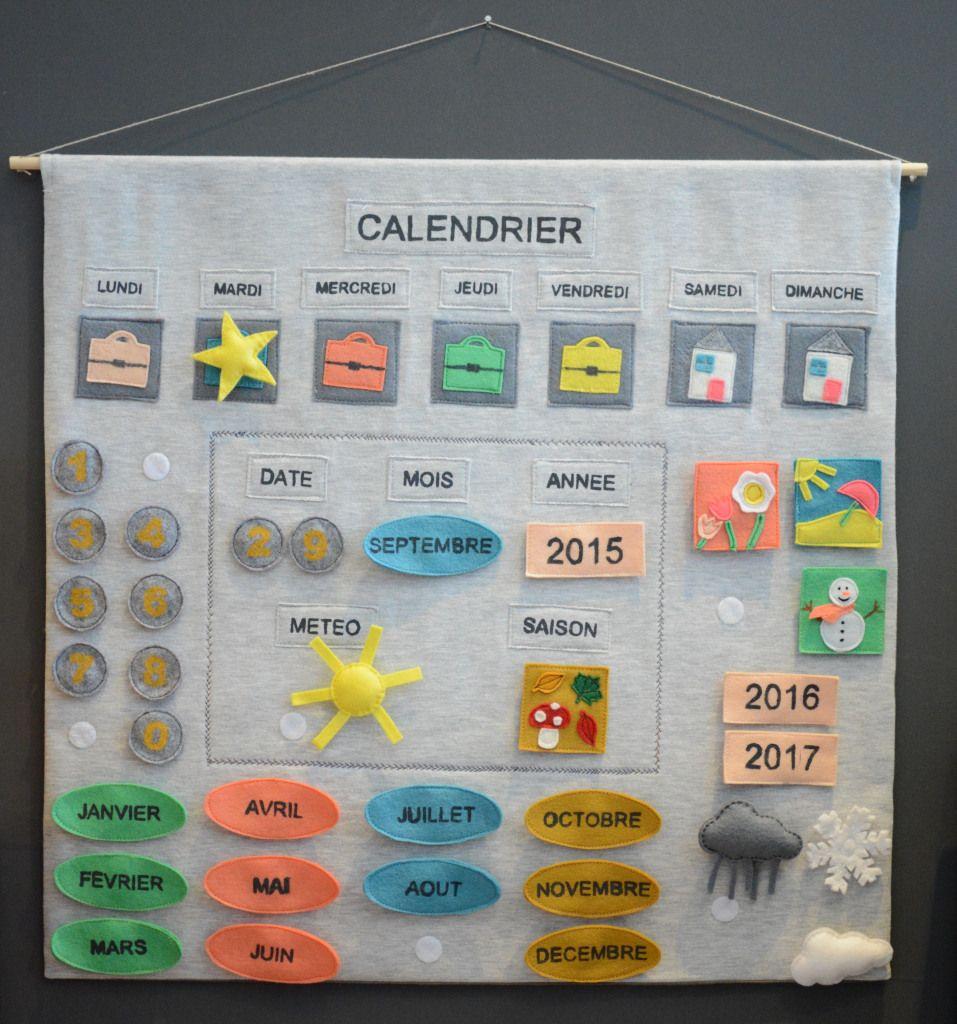 Comment Faire Un Tableau Avec Du Tissu calendrier d'apprentissage /// tuto et patron gratuit en pdf