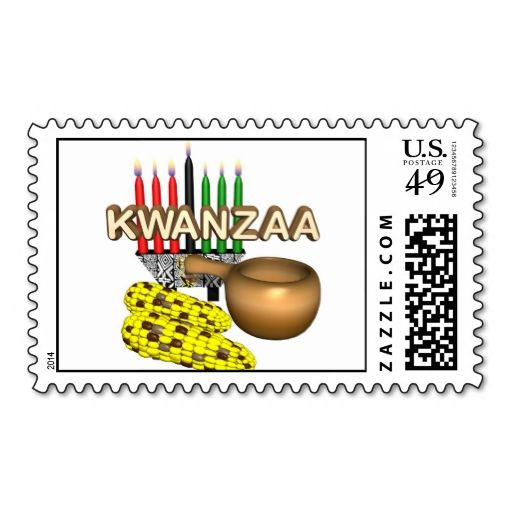 Kwanzaa Purpose Holiday Stamps. Wanna make each letter a special delivery? Try to customize this great stamp template and put a personal touch on the envelope. Just click the image to get started!