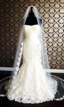 New With Tags/ Unaltered Diamond White Veil find it for sale on PreOwnedWeddingDresses.com