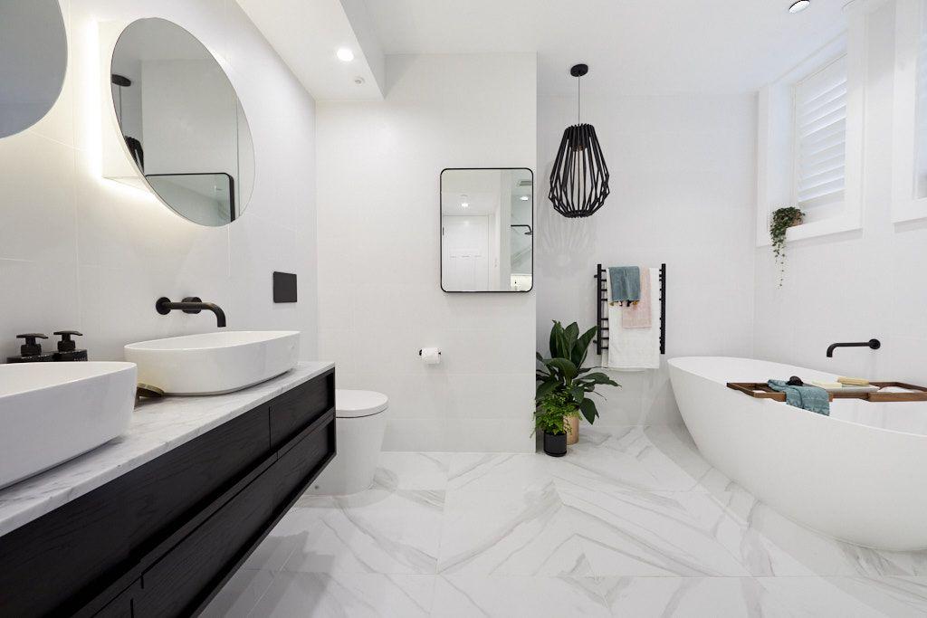 The Block 2018 Gatwick: Main Bathroom Reveal   Budget ...