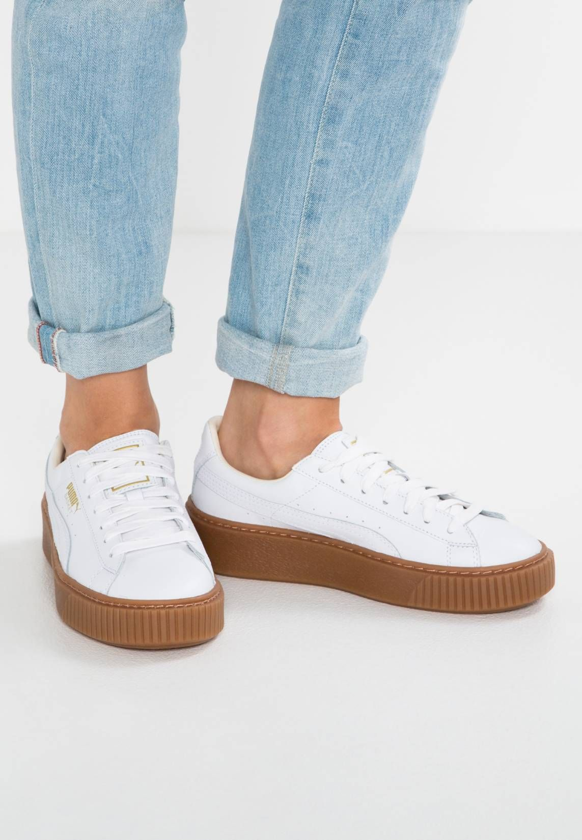 big sale 602b5 2a45d BASKET PLATFORM CORE - Sneaker low - white | Schuhe in 2019 ...