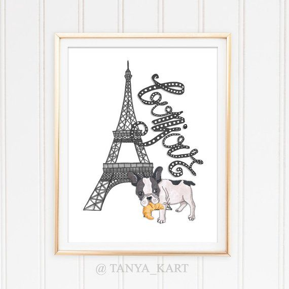 Hello Print Bonjour Wall Decor Print French Poster Instant