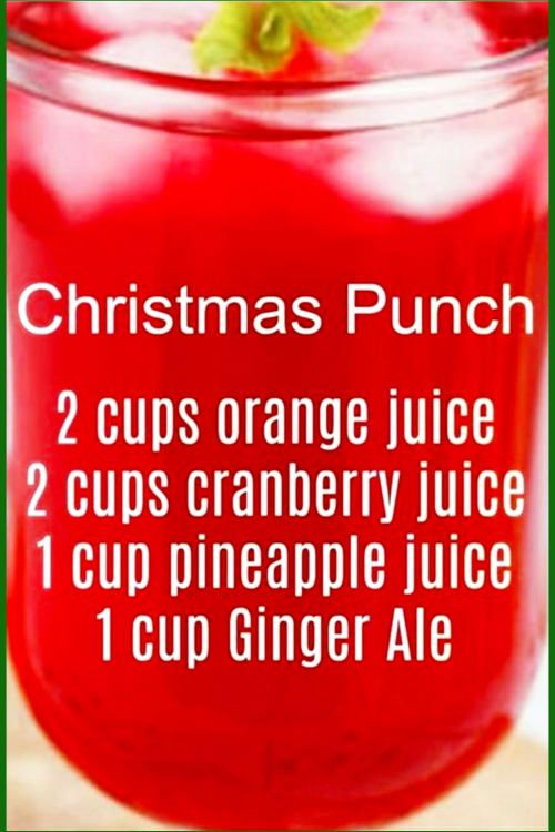 Super Easy Punch Recipes and Christmas Drinks – Christmas Morning Punch Recipe