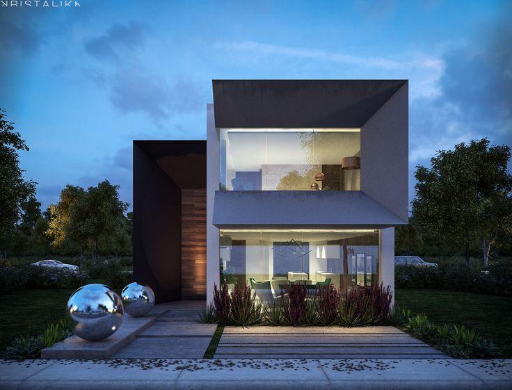 Resultado de imagen de kristalika fachadas pinterest for Fachadas casas unifamiliares