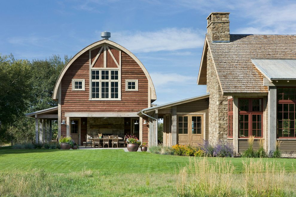 Superb Pole Barn Homes Trend Other Metro Farmhouse Exterior Decorating  Ideas With Arched Roof Barn Barn Part 47