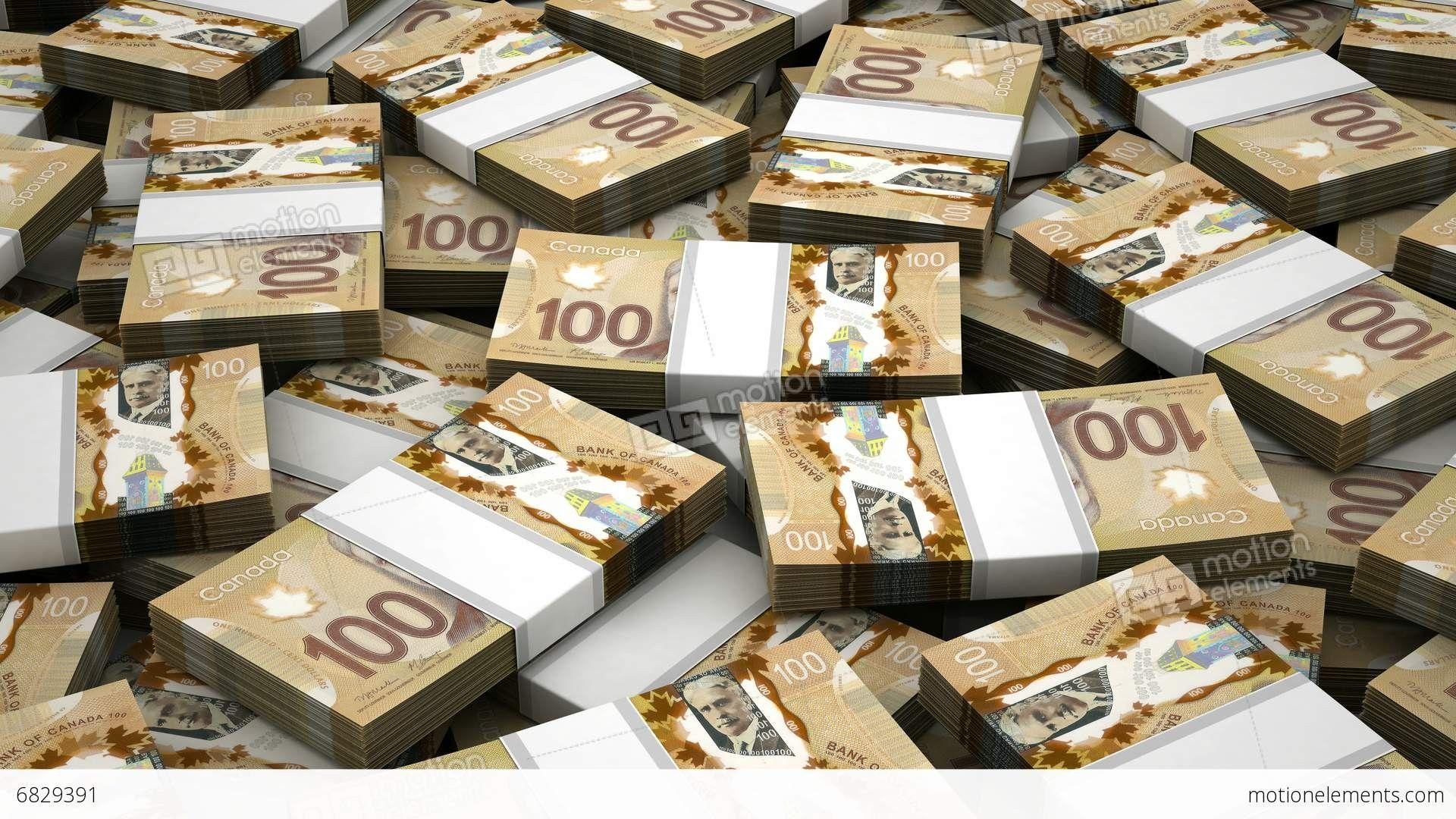 Cash Stacks Wallpaper Canadian Dollar wallpa...