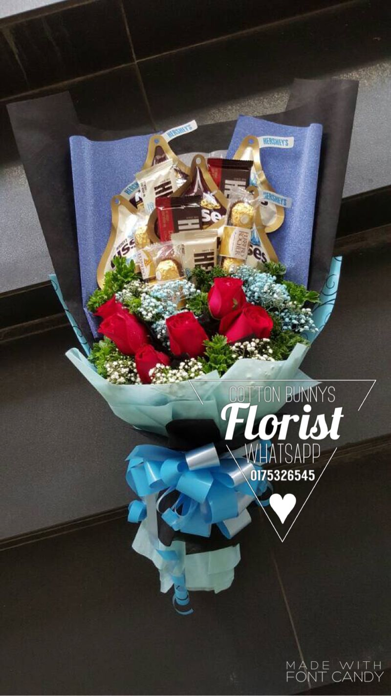 Flower bouquet chocolate bouquet kisses ferrero rocher flower bouquet chocolate bouquet kisses ferrero rocher hershey fresh roses for order whatsapp 60175326545 penang kedah perlis jb ipoh kl izmirmasajfo