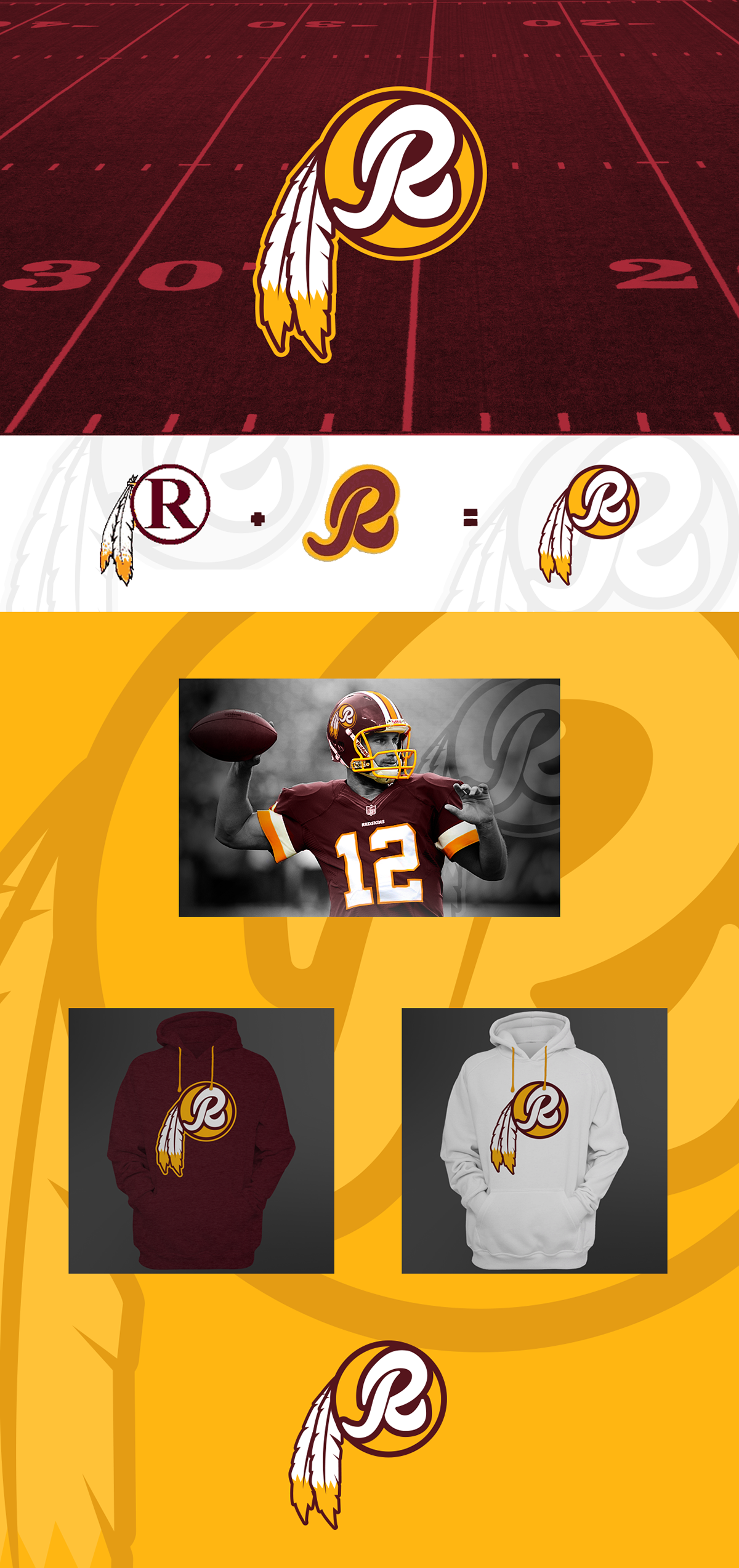 b0254b514 Washington Redskins Rebrand on Behance | Storm | Washington redskins ...