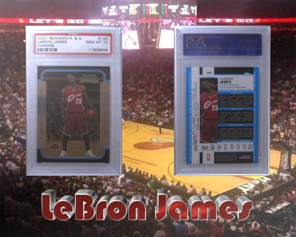 2003 bowman chrome basketball 123 lebron james rookie