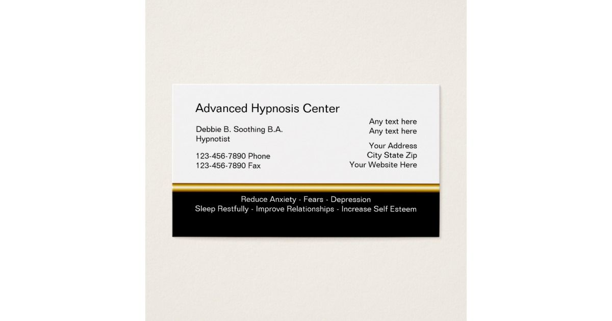 Hypnosis Business Cards Clinical Psychologist Pinterest