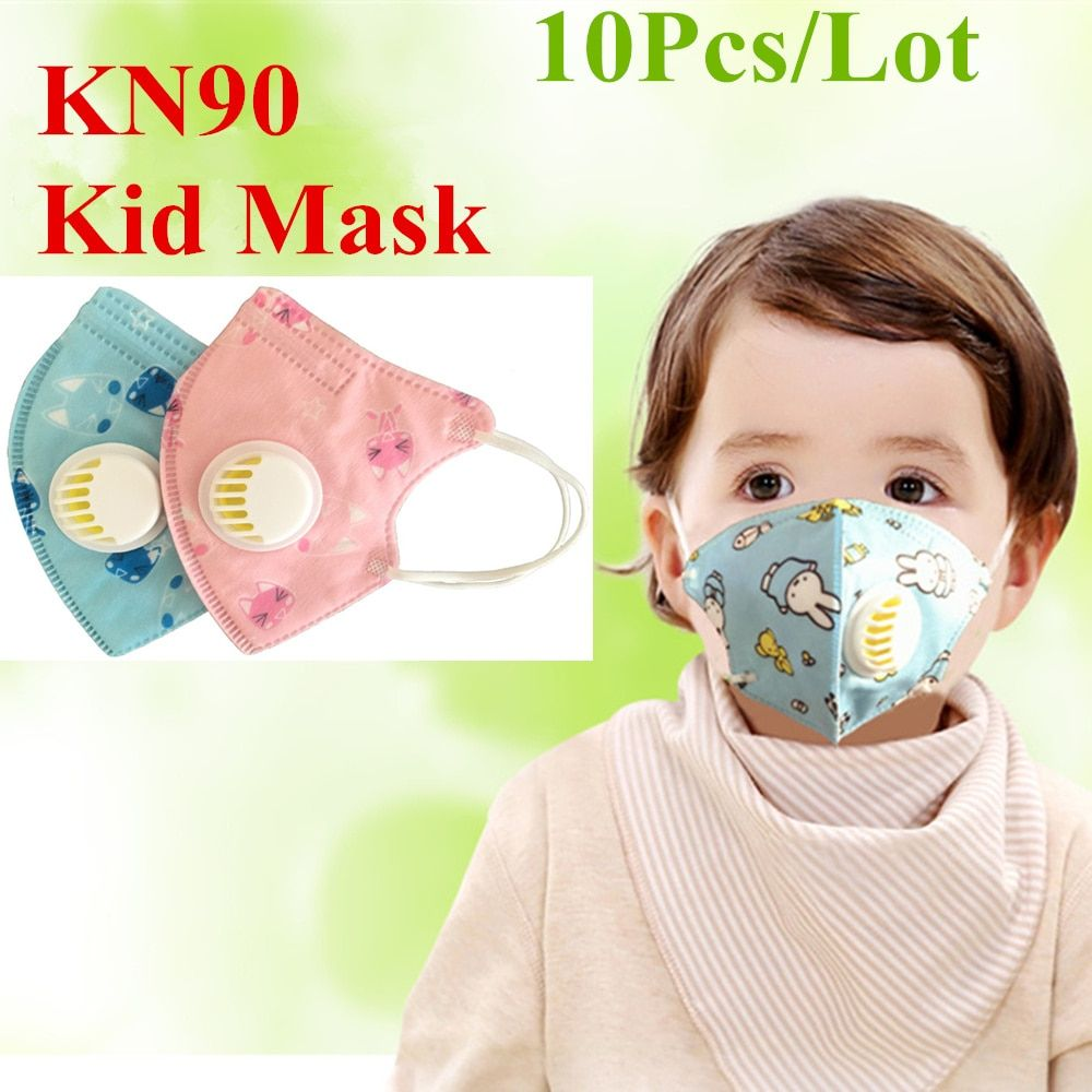 Cartoon Children's Anti 5 Mask Dust Valve Breathing Kid Pm2 10pcs