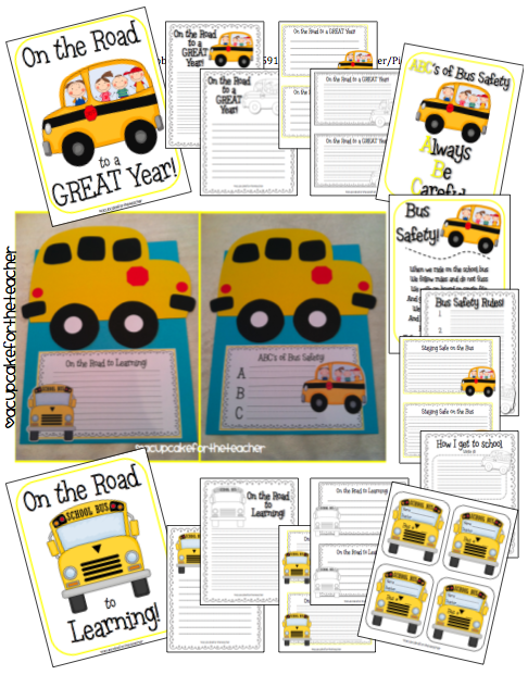 A Cupcake for the Teacher: Back to School Bus Craftivity {and a Safety Lesson, Too!}