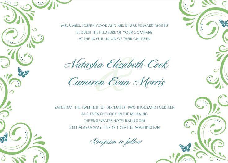 Wedding Invitation Designs Templates  Google Search  Wedding