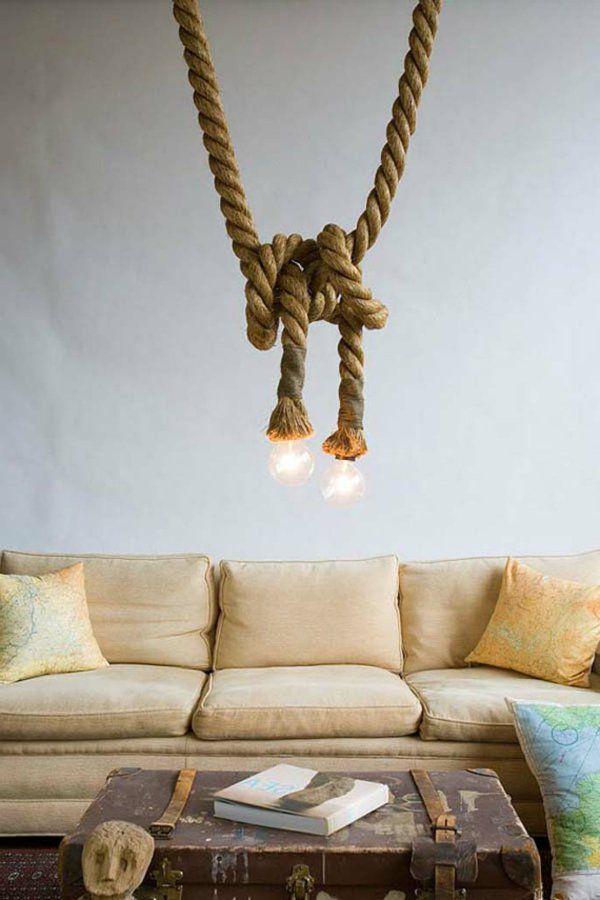 Hangelampen Aus Seil Von Atelier 688 Rope Lamp Lightbulb And Lights