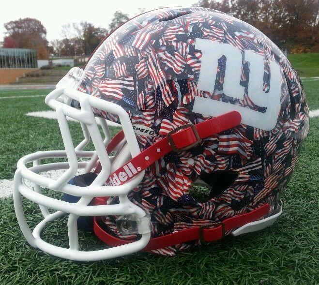 76addb6137e Authentic New York Giants Custom Riddell Revo Speed Helmet Full Size ...