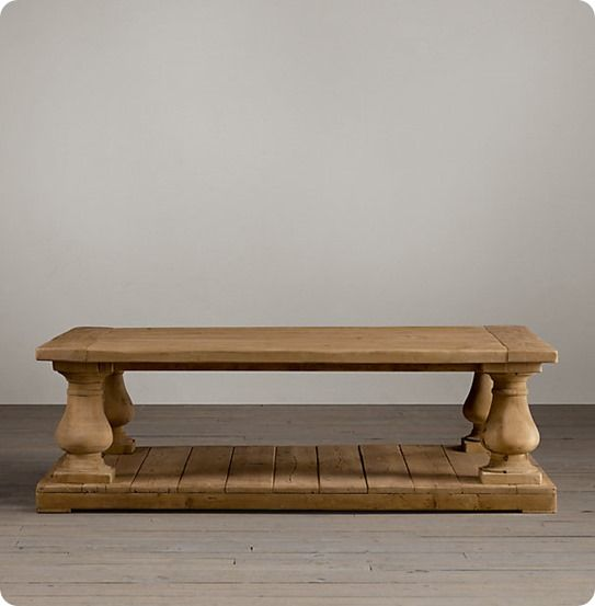 Balustrade Coffee Table Even the Beginner Can Build