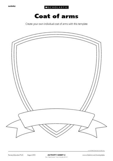 Coat of arms printable have stamps at each game craft for for Make your own coat of arms template