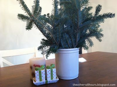 Leftover Christmas Tree Branches Make A Beautiful Vase Holiday Centerpieces Diy Holiday Centerpieces Leftover Christmas Tree