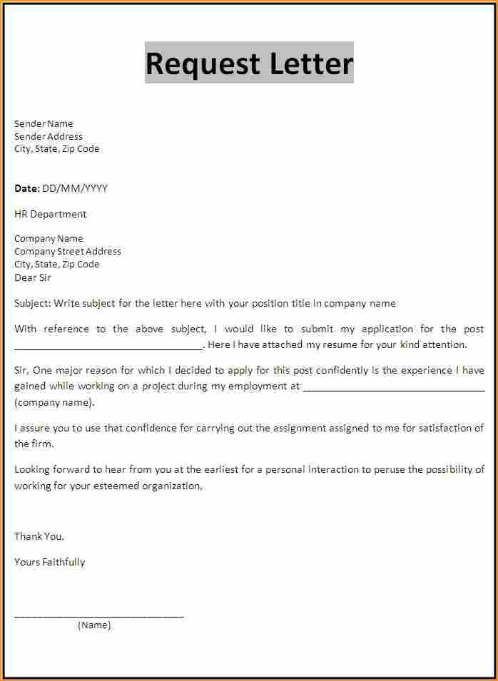 application form letter basic job appication simple leave