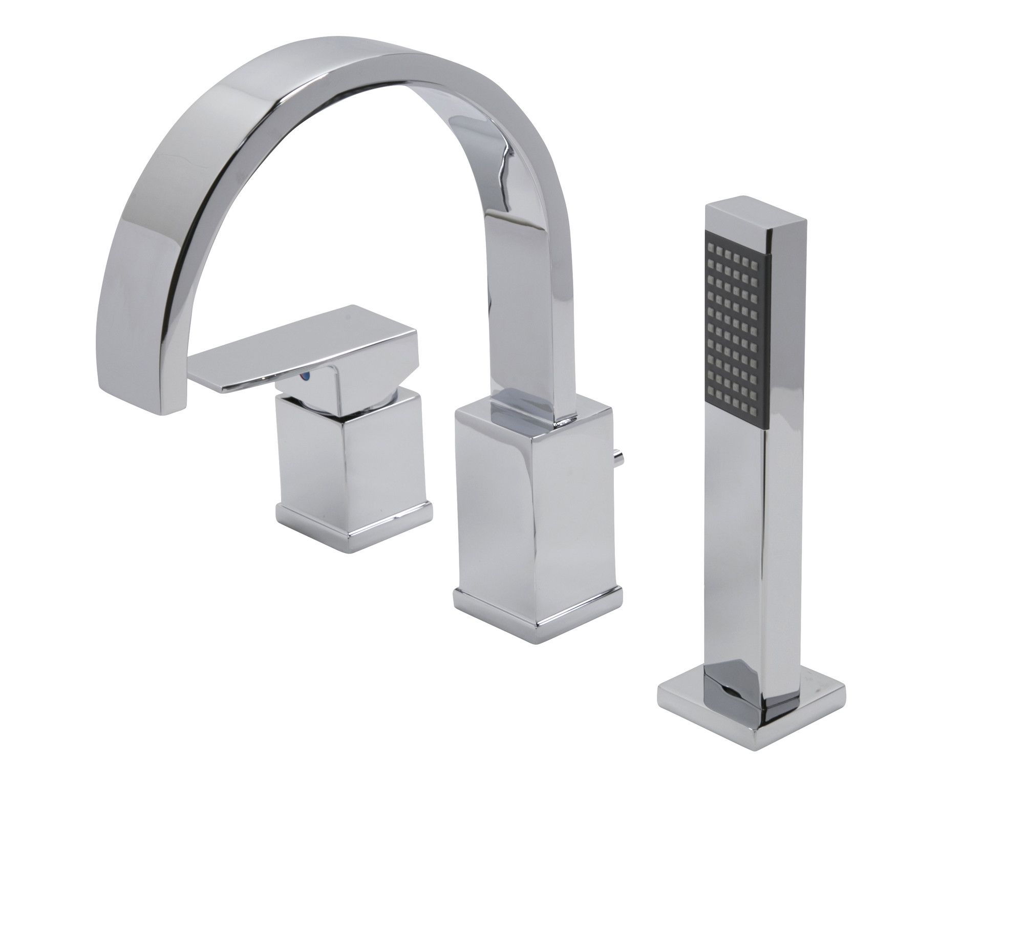 Single Handle Deck Mount Roman Bathtub Faucet With Shower Wand