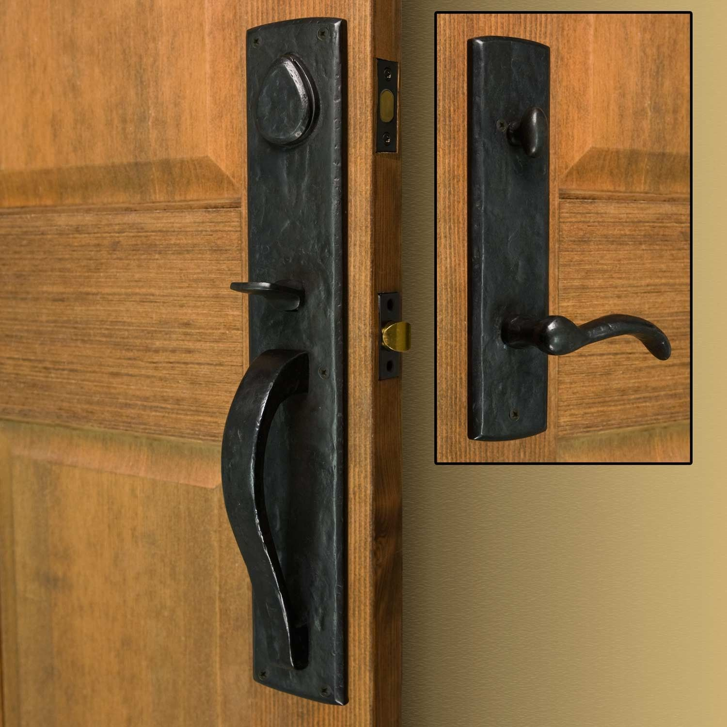 Bullock Solid Bronze Entrance Set With Lever Handle Exterior