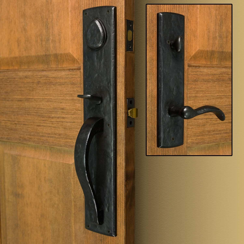 Bullock Solid Bronze Entrance Set With Lever Handle Front Door Handles Front Door Hardware Exterior Door Handles