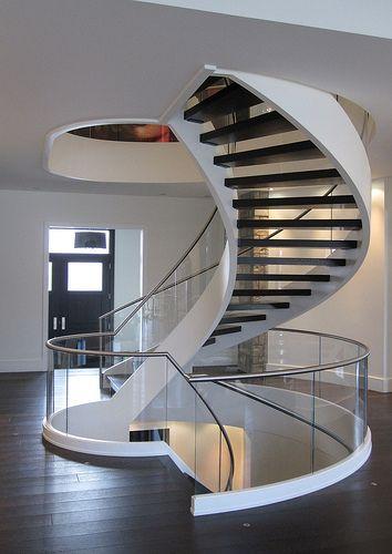 Escaliers Gilles Grenier - Réalisations : Escaliers en verre