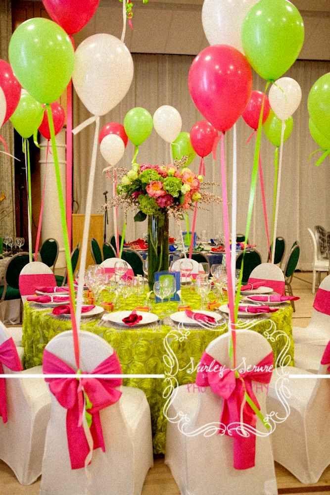 decorar sillas con globos para mesa de los nios